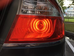 Philips 7443 red LED in Subaru Legacy tail light. (Uldzha (LV)) Tags: iphone 6s plus subaru legacy led red philips 7443 12835redb1 12835b2 taillight sidelight stop light vision