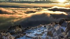 Sobre els nvols. Over the clouds. (JESS PUIGMART i SNCHEZ) Tags: unesco montseny barcelona catalunya paisatge paisaje landscape nieve neu snow