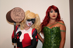 Batman Girls: Harley and Poison Ivy Cosplay Women (shaire productions) Tags: sf sanfrancisco comiccon people costume cosplay image comicbook characters comicbookcharacters popculture imagery candid portrait batman girls woman women ladies harleyquinn poisonivy green red joker dccomics