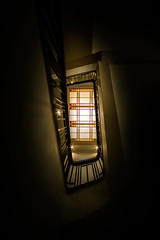 Up the rabbit hole (ajecaldwell11) Tags: artdeco hawkesbay newzealand ankh interior skylight deco architecture stair caldwell napier light