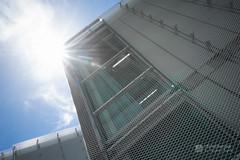 Upward view of Nakamachi Terrace (なかまちテラス) (christinayan01) Tags: library architect building sanaa kazuyo sejima perspective chair interior tokyo