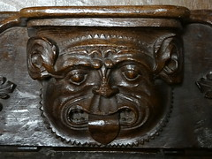 Fairford, Gloucestershire (Sheepdog Rex) Tags: misericords stmaryschurch fairford lions tonguepullers
