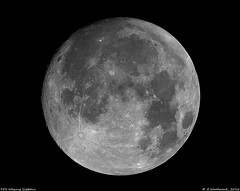 98% Waxing Gibbous - 2 Panels (alastair.woodward) Tags: moon lunar waxing gibbous tycho craters astronomy skywatcher 150p heq5 point grey blackfly stitch night sky astrophotography