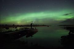 Looking for the arc (AlexanderHorn) Tags: aurora northern lights borealis space stars night finland scandinavia light beautiful tokina nikon waterscape landscape nightscape