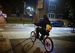 Man on a Chopper (I M Roberts) Tags: ridingabike chopperbike hackney homerton e5 eastlondon urbansetting nightscene fujix100s