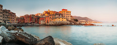 Sunset in Boccadasse bay, Italy, Genoa panorame image (CreativePhotoTeam.com) Tags: boccadasse  sea liguria like4like likeforlike folowme followme creativephototeam mariners   italy genova genoa  iphone iphone5s travel  summer vacation   nature travelphoto travelphotography photo photography relax