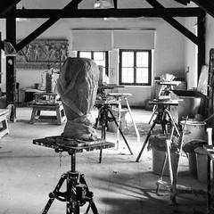 #sculpture #studio #blackandwhite (Murat Ertrk) Tags: instagramapp square squareformat iphoneography uploaded:by=instagram trakya fine arts sculpture studio