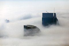Dubai Fog (Mehdi Photos) Tags: fog dubai uae east middle unitedarabemirates businessbay