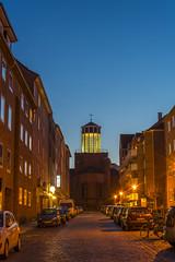 "Kieler ""Leuchtturm"" (rahe.johannes) Tags: kirche architektur kiel schleswigholstein blauestunde"