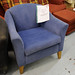 Blue fabric club chair