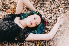 (Courtney Sinclair) Tags: people urban flower nature floral beauty fashion spring model natural free indiana editorial crown organic bloomington boho bluehair bohemian outfitters