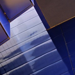 Guthrie (David M Strom) Tags: blue abstract color lines minnesota theatre minneapolis minimal guthrie