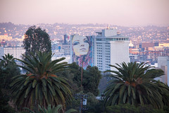 Hollywood Mural from Runyon Canyon - Los Angeles, CA (ChrisGoldNY) Tags: california sunset woman art girl face losangeles los model mural colorful forsale angeles palmtrees albumcover bookcover bookcovers albumcovers runyoncanyon licensing womans chrisgoldny chrisgoldberg chrisgold chrisgoldphoto chrisgoldphotos