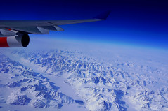 Green~land (mariola aga) Tags: airplane flight greenland landscape land mountains snow white sky blue window