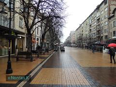 13 / Sofia city (Nontas K) Tags: city trees winter sky sun landscapes travels december sofia pedestrian bulgaria   2013          nontask
