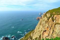 rocky coast (ekelly80) Tags: portugal cabodaroca june2016 summer coast westernmostpoint continentaleurope cliffs rocks ocean water atlanticocean view scenery cape waves down lookdown blue