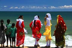COLOMBO (Sri Lanka) (RLuna (Instagram @rluna1982)) Tags: srilanka ceilan ceylon asia indico colombo viaje travel vacaciones playa beach photo canon landscape rluna rluna1982 mar sea colorful instagramapp spotlight igersmadrid people sari