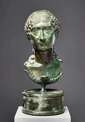 Ancient Rome. Bronze Portrait bust of a Roman matron, Julio-Claudian period, ca. 2050 A.D. (mike catalonian) Tags: portrait sculpture female bronze head ancientrome 1stcenturyad julioclaudiandynasty