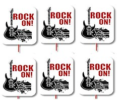 CakeSupplyShop Packaged 24 Rock Star Guitar Cupcake Decoration Layon Toppers and Picks (WUPPLES) Tags: cakesupplyshop cupcake decoration guitar layon packaged picks rock star toppers