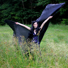 IMG_1779p (ScarletPeaches) Tags: fairy pixiefaerie fae isiswings fantasy outdoors bethw goth blackdress