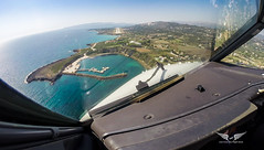 Final into Cephalonia RW32 (gc232) Tags: lgkf efl airport cephalonia kefalonia   kefallinia greece greek islands lonian   heptanese beautiful blue turquoise beach summer destination holiday travel traveling airline pilot work live from flight deck golfcharlie232 avgeek aviation short final approach land landing runway rwy 32 rw32 gopro hd hero black edition fisheye cockpit view airplane plane airliner fly flying aerial altitude