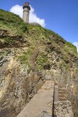 phare du portzic (menez.gilles) Tags: bretagne finistere brest phare portzic pointe goulet rade smaphore passerelle escalier