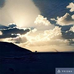 Murmuration on Formby beach (gavinwray) Tags: seftoncoast england beach sky clouds dusk murmuration formbybeach formby prisma