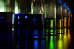 IIIII (prodicio) Tags: colours rainbow arcoiris samsungnx1000 light botellas bottles museocienciavalladolid azul verde naranja javiermoneo