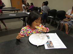 Nutrition and food fun combine in this exciting and edible Let's Cook library program.  Children at Main Library participated as part of the Summer Reading Program. (ACPL) Tags: fortwaynein acpl allencountypubliclibrary chi childrensservices mainlibrary letscook srp summerreadingprogram 2016 kids children