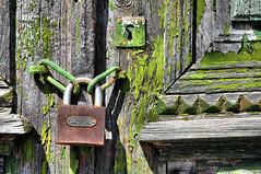 Symi - Le trou de la serrure (Docaron) Tags: grce greece dodcanse dodecaneseislands merege egeansea symi      dominiquecaron porte door cadenas serrure lock vert green couleurs colors colours