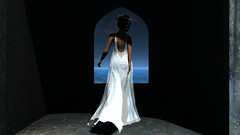 Leaving the wedding (Myra Wildmist) Tags: secondlife sl myrawildmist virtualphotography virtualart wedding gown bride shadows dark light