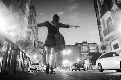 Viviendo Bilbao (carlosolmedillas) Tags: city sunset urban atardecer adolescente ciudad skirt bilbao nocturna kamila inocente joven piernas inocencia minifalda inocence