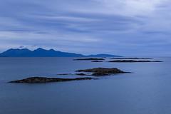 Across the sea (Daniel Mortimer) Tags: uk blue sea sky cloud mountain beach rock clouds canon island scotland rocks europe horizon sigma canon7dmarkii