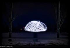 Frozen Mushroom (KRHphotos) Tags: snow winter nightphotography paintingwithlight lightpainting