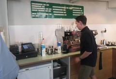 Barista at work (cohodas208c) Tags: coffeeshop cappuccino coffeecollective jaegersborgade copenhagen openkitchen nrrebro