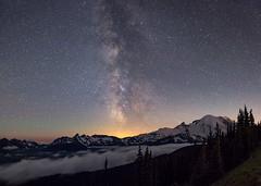 Rainier Milky Way (Anish Patel Photo) Tags: milkyway stars astrophotography astro night nightscape landscape mountains mount rainier clouds