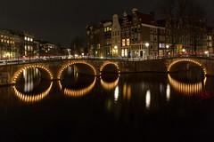 the hidden tube entrances of Amsterdam (jimx9999) Tags: amsterdam holland netherlands night nacht water wasser longexposure langzeitbelichtung keizersgracht