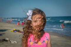 Windy Beach Day With A Pretty Little Girl (Marc_714) Tags: marc714 mia beach curls curly girl girly windy wind