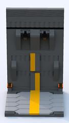 Hangar Panel (phayze81) Tags: mech mecha lego moc scifi sciencefiction bluerender ldd legorender hangar dock modular