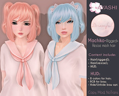 [^.^Ayashi^.^] Machiko hair special for {Dreamful} (Ikira Frimon) Tags: rigged hud anime m3 utilizator nice head mesh ayashi doll outfit hair blogger costume frimon ikira follow post blog fashion sl life second event girl beautifully special exclusive tsg kawaii kawai cute hairs sensuality lovely sexually cosplay machiko dreamful wavy averagelength medium quiff forelock bang obliquefringe unevenbangs tails tail headsortails curl heartbreaker bow bobbypin barrette