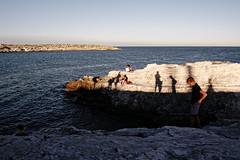 Vieste, Puglia, Italy ©2016 Nicola Nigri (Lifeinpicture) Tags: italy summer nikkor shadows sea people landscape contrast rocks webb sunset sun vieste colors d750
