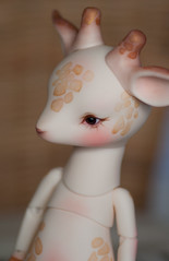 IMG_8283 (greenwolfy) Tags: bjd faceup faceupcommission makeup dearmine agrippa giraffe dollpet