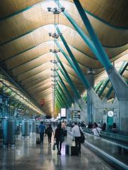 Airport, Madrid (Al Fed) Tags: 20160615 madrid airport hall people travelling