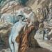 CHASSERIAU Théodore,1840 - Diane et Actéon, Etude (drawing, dessin, disegno-Louvre RF24456) - Detail 1