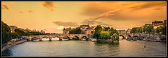 Sunset on the Seine (Marketkid) Tags: paris france greatphotographers seine iledefrance river sunset clouds