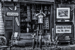 Lean-To Antiques, antique & cafts shop in Kingsburg (kenmojr) Tags: antiques architecture atlantic atlanticprovinces beach blue bridgewater bush bushes canada cloud cottage cove craft crafts d7000 driveway gaffpoint gift grass hirtle hirtlesbeach kenmorris kenmo kingsburg leanto lunenburg maritimes nikkor nikon novascotia reflection resort retail seller shopantique shrub skies sky summer vacation vegetation