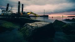 Taking to the low angle (samulikarjalainen) Tags: nikkor 20mm 35 sea sunset ud sony a7ii helsinki hernesaari