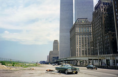 More Lower Manhattan adventures in the good old days. The swampy fields of future Battery Park City, a guy from New Jersey takes a snooze, The World Trade Center hovers and all is right with the world. New York. August 1976 (wavz13) Tags: oldphotographs oldphotos 1970sphotographs 1970sphotos oldphotography 1970sphotography vintagephotographs vintagephotos vintagephotography filmphotos filmphotography historicphotographs historicphotos historicphotography newyorkphotographs newyorkphotos oldnewyorkphotography oldnewyorkphotos vintagenewyorkphotography vintagenewyorkphotographs vintagenewyorkphotos oldworldtradecenter vintageworldtradecenter twintowers originalworldtradecenter oldtribeca lowerwestside manhattanskyline newyorkskyline newyorkskyscapers manhattanhistory newyorkhistory 1970smanhattan 1970snewyork oldnewyork vintagemanhattan oldmanhattan 1970scars 1970scar oldcars oldcar oldcadillacs vintagecadillacs 1970scadillacs collectiblecars collectablecars newyorktelephone oldhighways vintagehighways nytelephonebuilding 911
