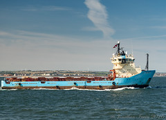 Maersk Feeder 9034793 Departing Teesport_9170408 (www.jon-irwin-photography.co.uk) Tags: maersk feeder 9034793 departing teesport
