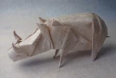 Jabal (mrmicawer) Tags: papiroflexia origami papel jabal boar bosque salvaje